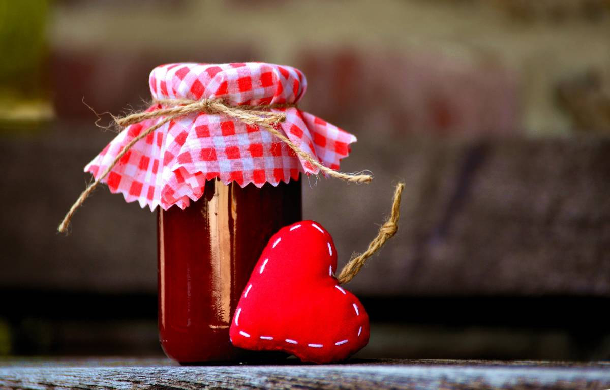 Marmeladengläser Umdrehen